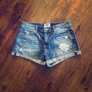 Paige Jimmy Jimmy Distressed Ripped Shorts